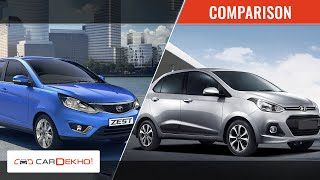 Tata Zest vs Hyundai Xcent | Video Comparison | CarDekho.com