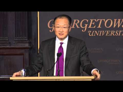 World Bank President, Dr. Jim Yong Kim, Speaks at Georgetown
