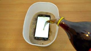 Samsung Galaxy J7 Prime - Coca Cola Test! (4K)