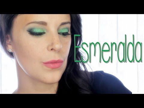 Maquillaje verde Esmeralda, serie piedras preciosas | Silvia Quiros