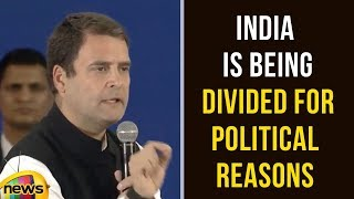 Rahul Gandhi At Indian Diaspora in Dubai | India is Being Divided for Political Reasons Says Rahul - MANGONEWS