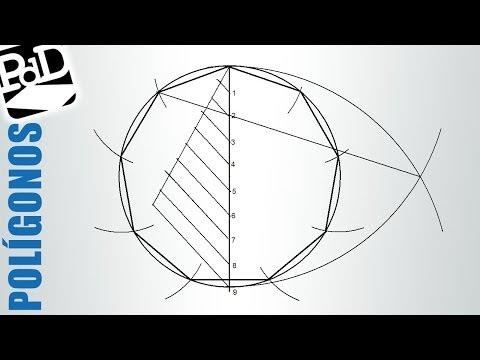 Construcción de polígonos inscritos en circunferencia, método general (eneágono o nonágono).