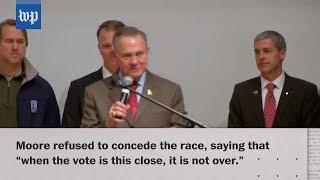 Jones wins U.S. Senate seat in Alabama; Moore refuses to concede - WASHINGTONPOST