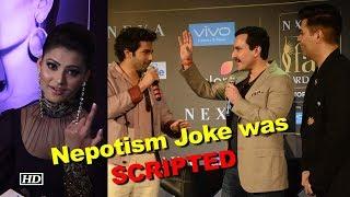 Karan-Saif-Varun's Nepotism Joke was SCRIPTED: Urvashi Rautela - IANSINDIA