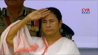 West Bengal CM Mamata Banerjee hoists national flag on 72nd Independence Day | CVR News - CVRNEWSOFFICIAL