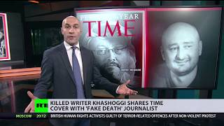 Killed writer Khashoggi shares Time cover with 'fake death' journalists - RUSSIATODAY