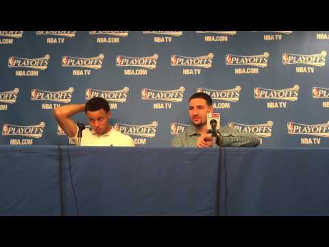 Klay Thompson messes with reporter
