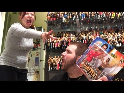 Wife RUINS WWE BattlePack Series 34 UNBOXING of Lana and Rusev Wrestling Figures
