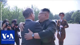 South Korea's President Moon Jae-in Meets with North Korea's Leader Kim Jong Un Again - VOAVIDEO