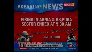 J&K: One BSF Jawan martyred, 3 civilians injured in ceasefire violation by Pak in R S Pura sector - NEWSXLIVE