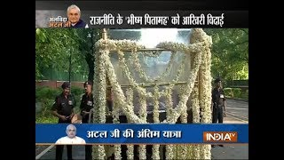 Atal ji's mortal remains to be carried for final journey on wagon decked-up with white flowers - INDIATV