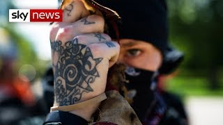 Antifa: Fighting the hard-right in the USA - SKYNEWS