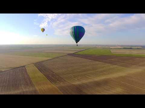Elindult az óballai reptérről a hőlégballon verseny 2017.07.29. (4K)