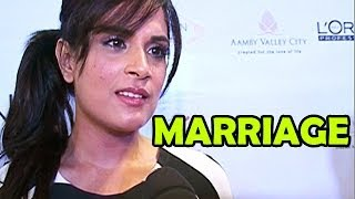 Richa Chadda on her marriage