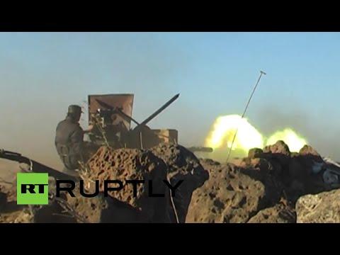 El Ejército sirio ataca a los yihadistas vinculados con Al-Qaeda cerca de la frontera con Israel