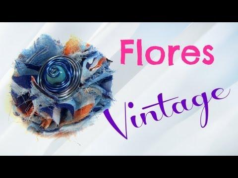 Tutorial: Flores vintage. Vintage flowers.