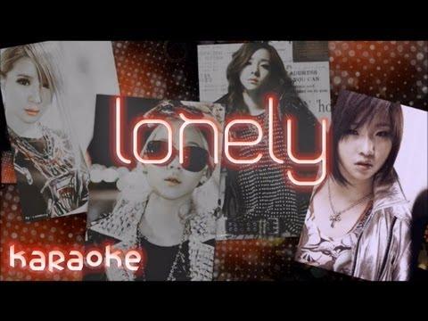 2ne1 - Lonely [karaoke]