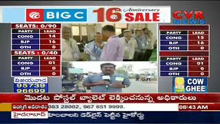 Votes counting begins in Adilabad | Telangana Election Results | CVR News - CVRNEWSOFFICIAL