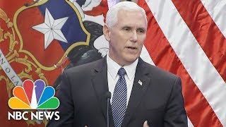 Mike Pence In Aftermath Of Charlottesville: 'I Stand With The President' | NBC News - NBCNEWS