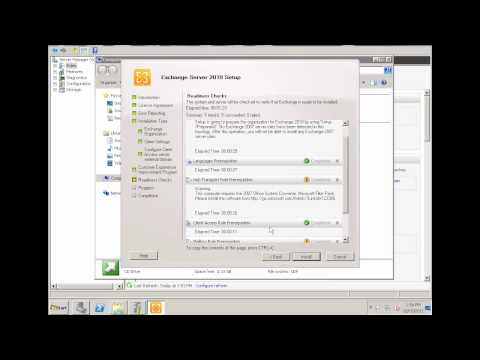 Exchange Server 2010 -Part 2 Installation