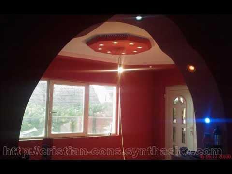 Gips carton rigips  form modele scafe amenajari interioare finisaje constructi SATU MARE .wmv