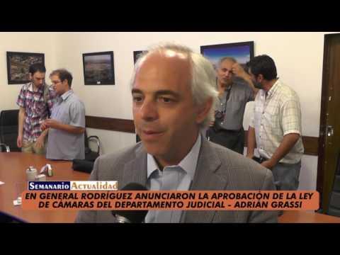 En General Rodríguez anunciaron la aprobación de la ley de Cámaras del Departamento Judicial