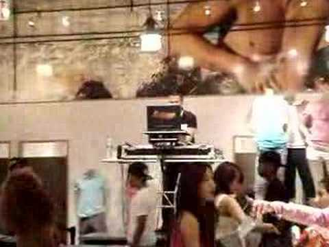 DJ Jonathan Lopez at Armani Exchange SOHO NYC