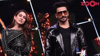 'Simmba' stars Ranveer Singh & Sara Ali Khan promote their film on a reality show - ZOOMDEKHO