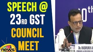 Hasmukh Adhia Speech After 23rd GST Council Meet | Mango News - MANGONEWS