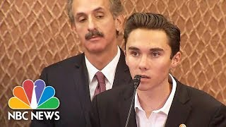 David Hogg: We Are Not Trying To Take Your Guns, We Are Trying To Live | NBC News - NBCNEWS