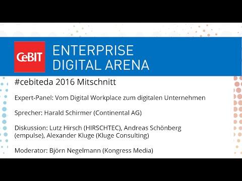 """#cebiteda16: Expert-Panel """"Vom Digital Workplace zum digitalen Unternehmen"""""""