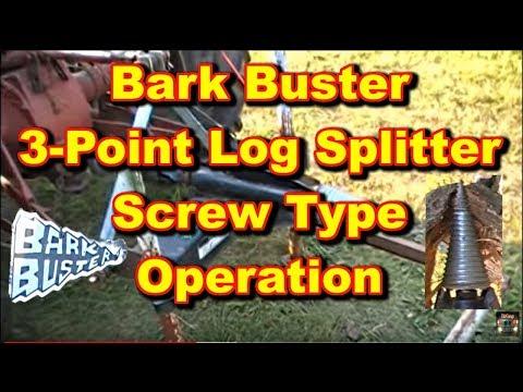 Bark Buster Log Wood Splitter 3 Point PTO Screw Type Operation