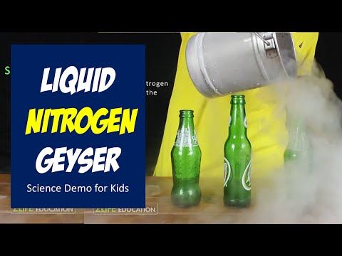 Liquid Nitrogen Geyser - Science Demonstration for kids