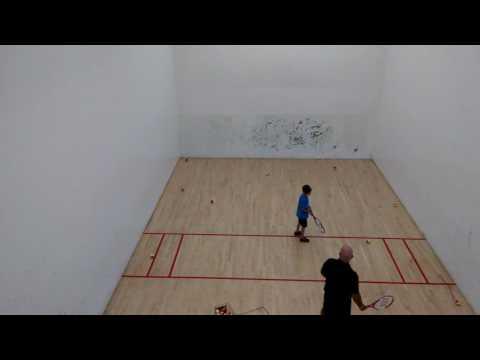 Sev tennis lesson - racquetball court pt1