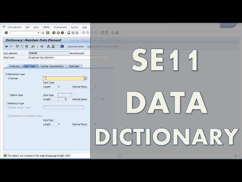 Beginners Guide - Learn SAP ABAP - SE11 Data Dictionary - Create A SAP Table