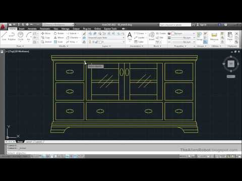 AutoCAD 2012 Introduction Training-0906 Stretch command