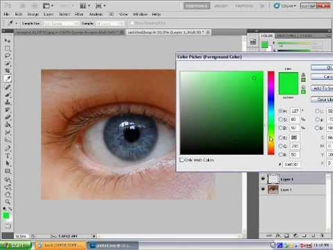 photoshop CS5 eye colour change tutorial