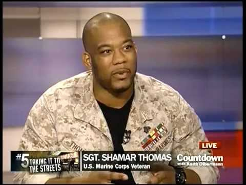 occupy wall street - USMC Sgt Shamar Thomas on Countdown w/ Keith Olbermann