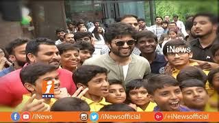 Vijay Devarakonda Independence Day Celebrations With Children | Geetha Govindam Movie | iNews - INEWS