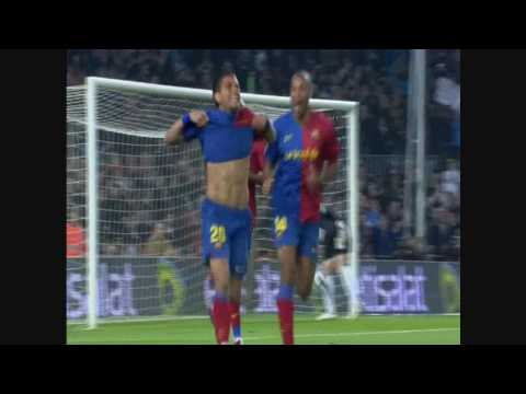 Fc Barcelona vs Malaga CF 6 0 HD by ALFREDO MARTINEZ 2008 2009