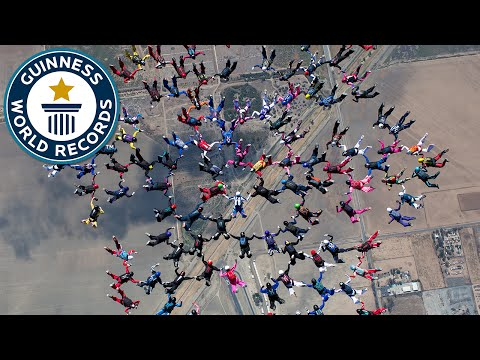 Record breaking skydiving formation - Guinness World Records