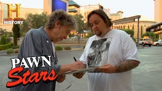 Pawn Stars: Chumlee Gets Bob Dylan's Autograph (Season 3) | History - HISTORYCHANNEL