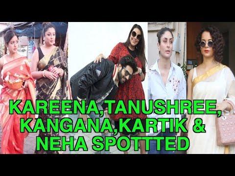Kareena Kapoor, Tanushree Dutta, Kangana Ranaut, Kartik Aaryan & Neha Dhupia at Spotted