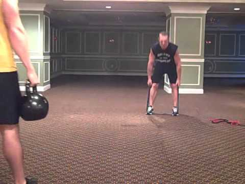 Patner Kettlebell - Band Workout Routine (follow along)