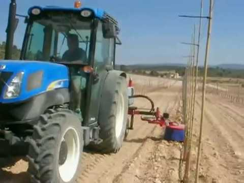 Aplicador herbicidas intercepas ID-DAVID Herbicide aplicator with in row weeders automatic