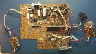 Ремонт CRT телевизора RUBIN 37M10-2 PLATINUM. Не включается.