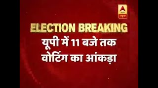 24% voting recorded in Uttar Pradesh till 11 am - ABPNEWSTV