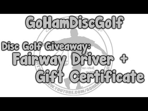 Disc Golf Giveaway: Fairway Driver + Gift Certificate
