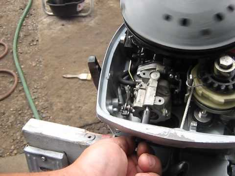 Johnson Evinrude 9.9/15 hp carburetor adjust how to.