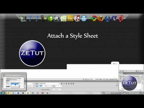 Dreamweaver CS3 CS4 | Attach External Style Sheets (CSS)